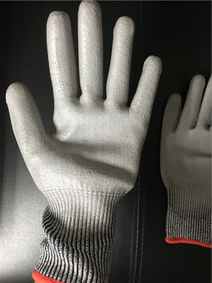 Cut Resistant PU Coated Gloves pictures & photos