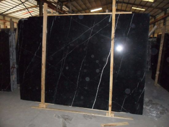 Natural Stone Black Marble Tile pictures & photos