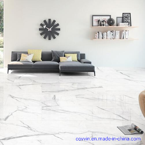 Carrara White Hot Sale Polished Porcelain Floor Tiles From China