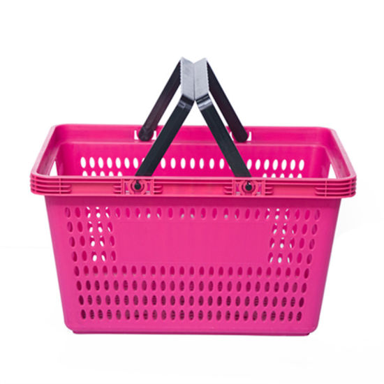 Grocery Store Shopping Baskets Plastic Handle Market Basket pictures & photos