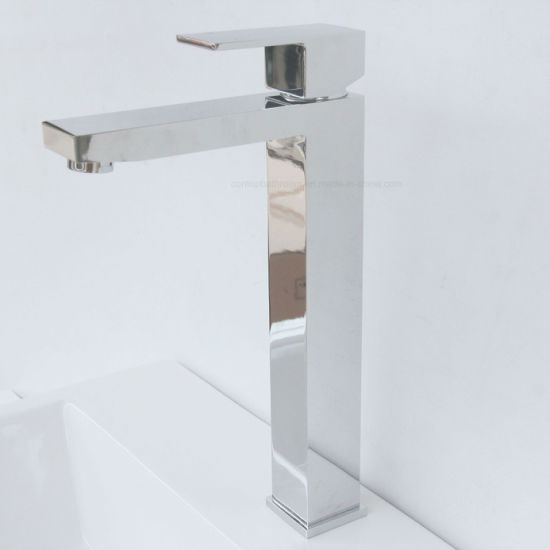Watermark Approval Solid Brass High-Rise Basin Tap pictures & photos