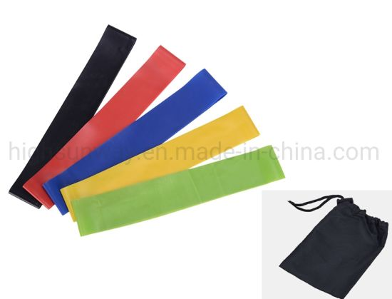 Fitness Equipment Exercise Elastic Resistance Band with Different Colors Resistance Mini Loop Elastic Latex Fitness Resistance Bands