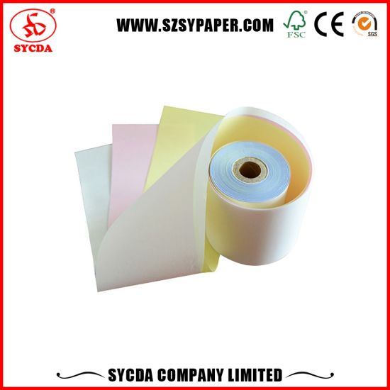 3ply Carbonless Paper Roll 55g Made in China