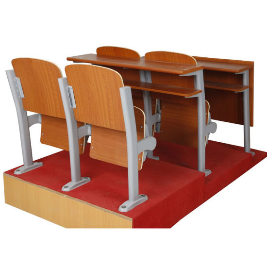 China Cheap College Furniture Lecture Hall Wooden Folding Step