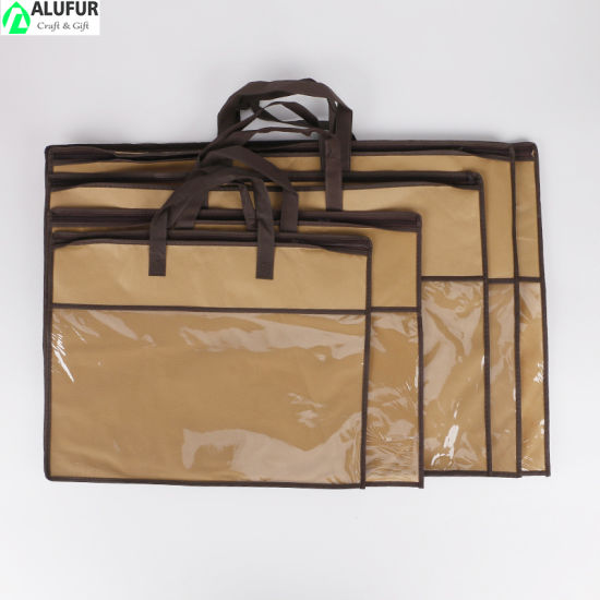 Nonwoven Packaging Bags with Vinyl Window for Pillow
