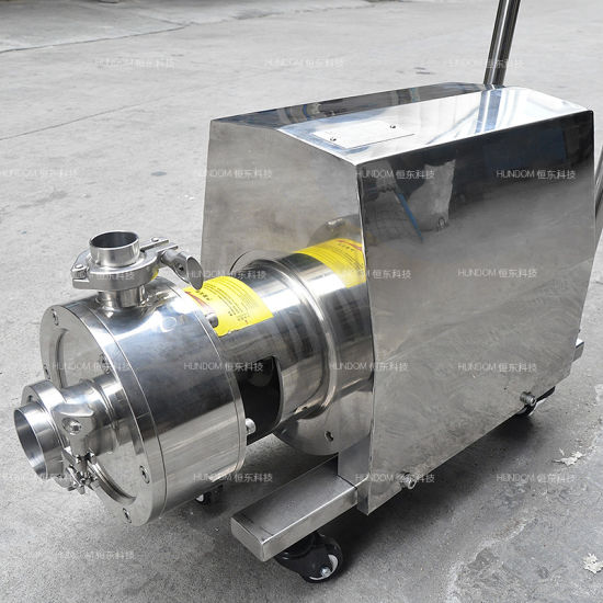 Stainless Steel Emulsion Mixing Pump for Cosmetics Cream with Trolley pictures & photos
