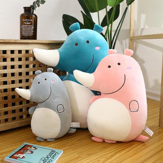 Wholesale Plush Stuffed Animal Soft Rhinoceros Toys