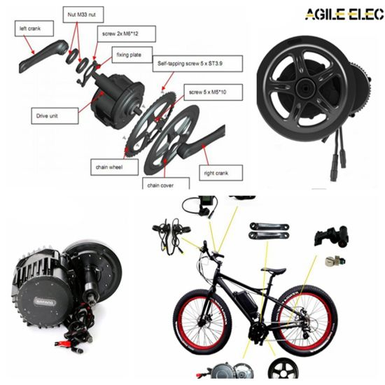 Agile 250W Bafang E-Bike Kit with Colourful Display pictures & photos