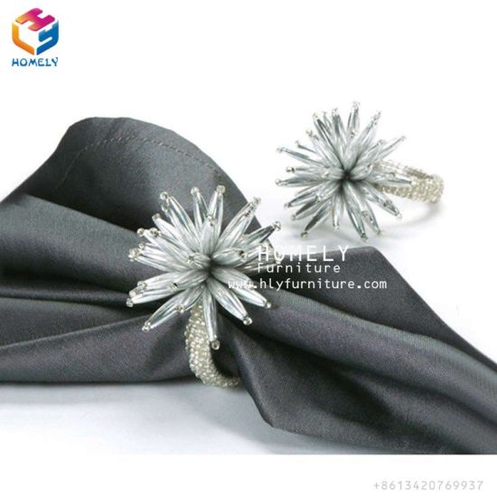 Homely Furniture Metal Napkin Ring/Silver Napkin Ring/Flower Napkin Ring