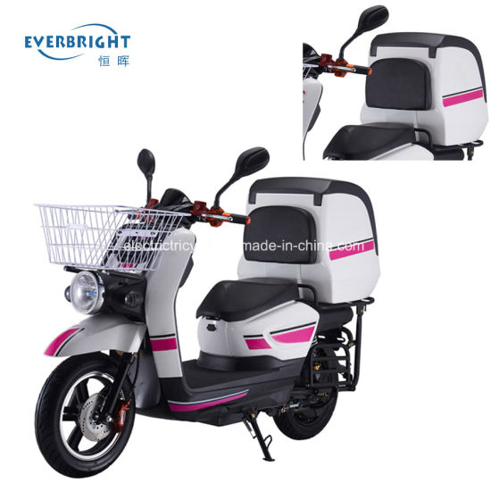 Fast Food Delivery Electric Lead Acid Battery Powered 2 Wheel Motorbike Scooter