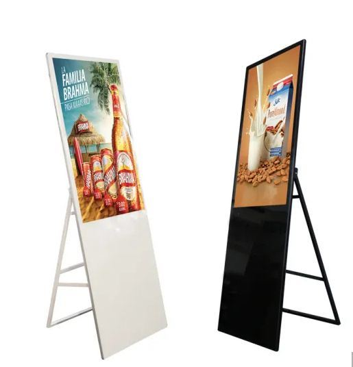 43 Inch Shopping Mall Portable Folding Floor Standing Advertising Media Player LCD Display WiFi Network HD Digital Signage Touch Screen Kiosk