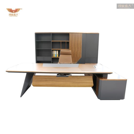 Executive Manager Office Desk E1 MDF Luxury Executive Office Table Office Furniture