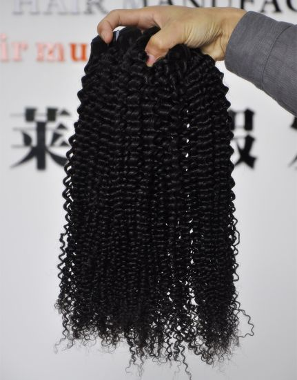 Wholesale Grade 9A Human Kinky Curl 100% Brazilian Virgin Hair Extensions pictures & photos