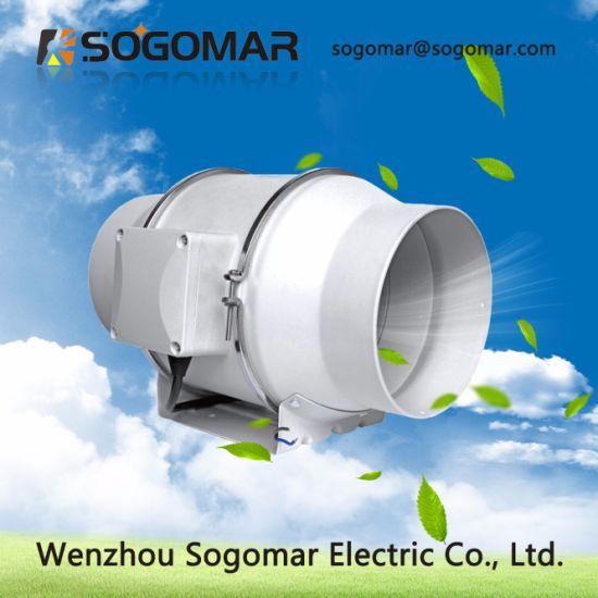 Hot Sell Dia 150mm 220-240V 58W 650m3/H 2550r/Min Duct Fan for Airports