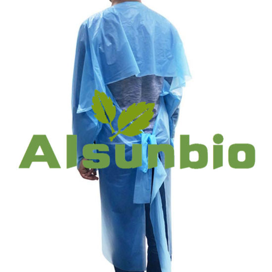 CPE Isolation Gown Disposable Aprons Gowns Protective Isolation Aprons