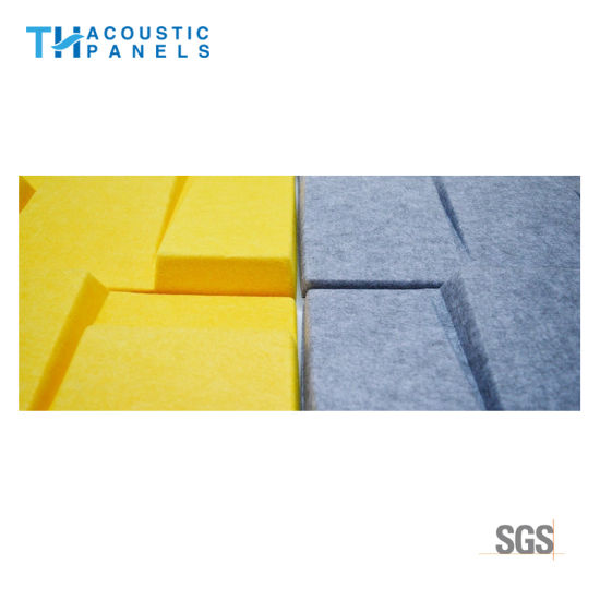 China Fire Proof Polyester Fiber Decorative 3D Acoustic Wall Panel ...