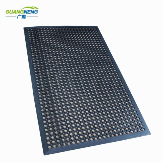 Drainage Rubber Mat Anti Slip Restaurant Kitchen Mats Anti Fatigue Mat