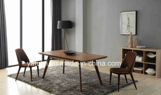 Modern Extension MDF Rectangle Dining Table Living Room Furniture pictures & photos