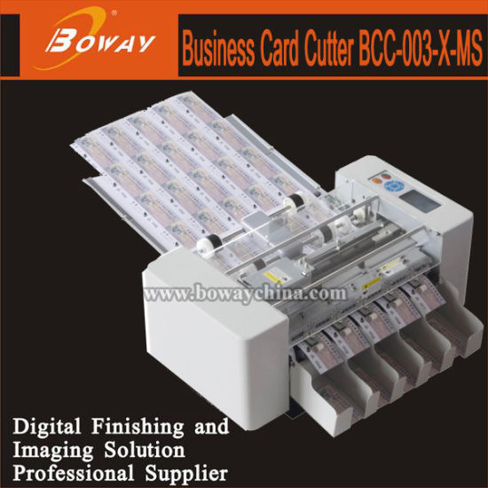 Boway 200 Pieces/Min A3+ Namecard Automatic Business Name Card Cutter Trimmer (Middle Speed) pictures & photos