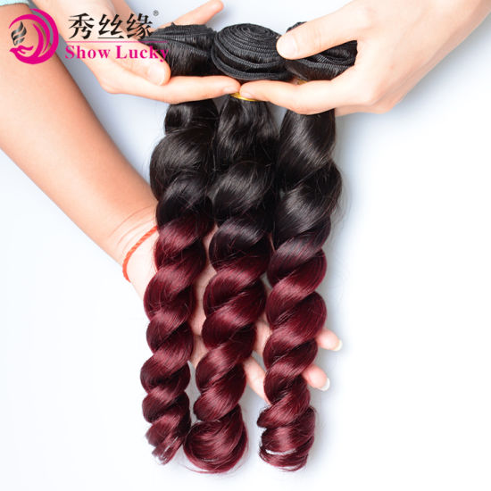Factory Direct Wholesale Indian Loose Wave 100 Unprocessed Ombre 1b/99j Human Hair Weaving India