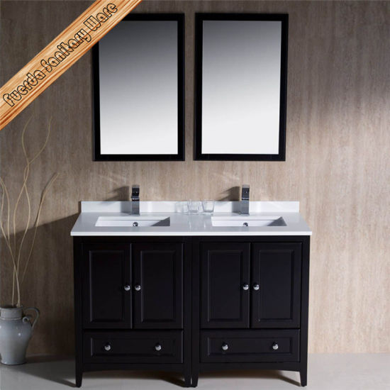 Fed 1069d 48inch Double Cupc Sinks Espresso Finishing Quartz Top