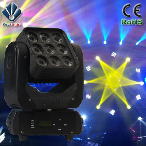 19X15W LED Wash Beam Moving Head Light With Ring Effect Fan Temperature Control