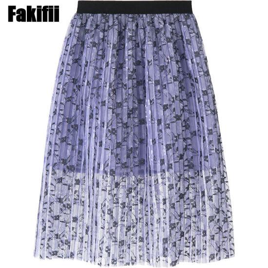 Summer/Spring Wholesale Children Apparel Kid/Girl Clothing Infant Clothes Flora Mesh Skirt