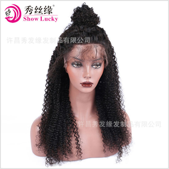 Top Quality 100% Natural Brazilian Remy Human Hair Full Lace Wig Lace Front Wig for African American Women pictures & photos