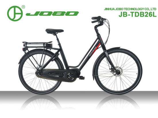 Jobo 700c Wholesale Electric City Bicycle MID Motor Lady E-Bike Jb-Tdb26L pictures & photos
