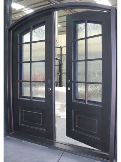 Modern House Steel Pipe French Door Design Iron