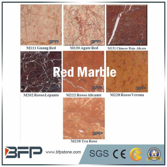 Red Marble Wall Tile for House/Villa/Residence/Hotel Facade & TV Background & Bathroom Surrounding pictures & photos
