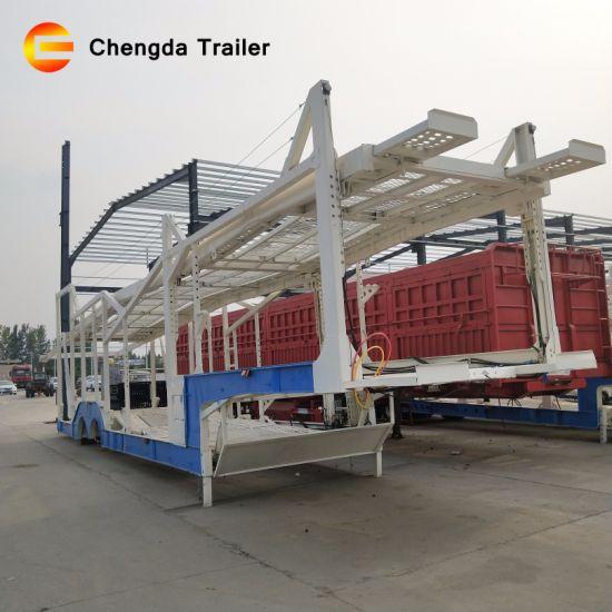 Manufacture Double Level Auto Transport 3 Axles 8 Cars Carrier Car Hauler  Trailers for Sale