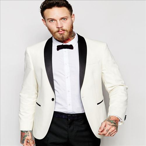 2016 Men's Top Quality Wedding Suits for Men White