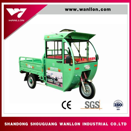 Open Body Runing 50-70km Hybrid Electric with Gasoline Tricycle pictures & photos