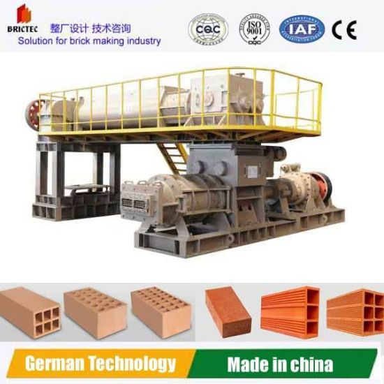 Vacuum Extruder Soil Brick Making Machine with Wearing Auger