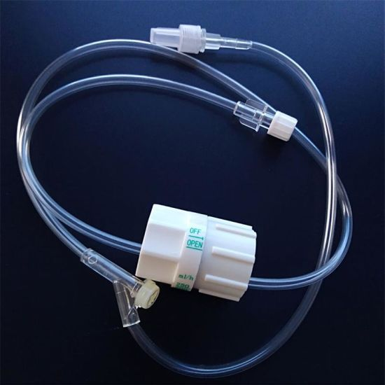 Disposable IV Infusion Set with Extension Tube Y Site Precise Regulator