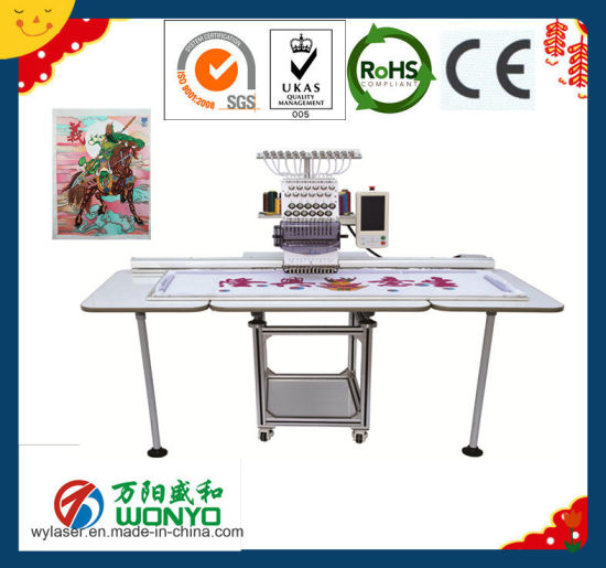 China Single Head Sequin Embroidery Machine Digitizing With