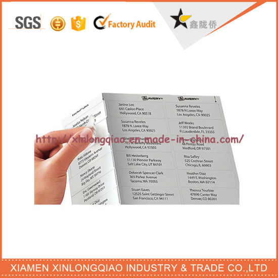 Sheet adhesive sticker paper cheap custom polyester printing printer label