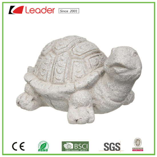 Popular Stone Effect Tortoise Polyresin Figurine for Home and Garden Decoration, Make Your Own Animal Sculpture pictures & photos