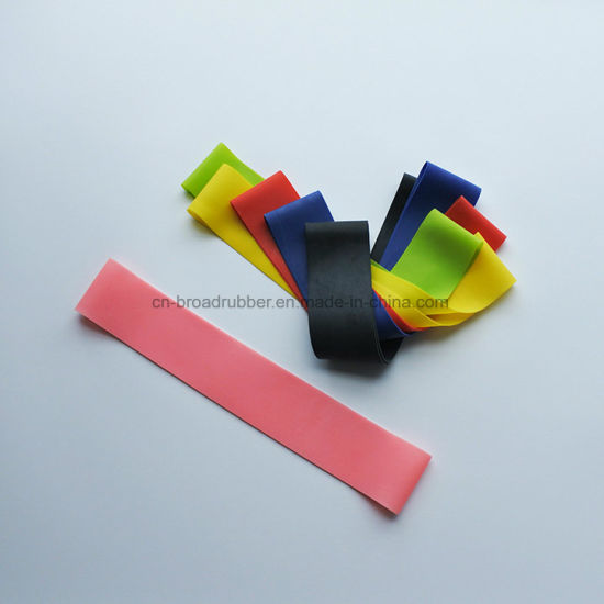Resistance Mini Loop Elastic Latex Fitness Resistance Bands pictures & photos