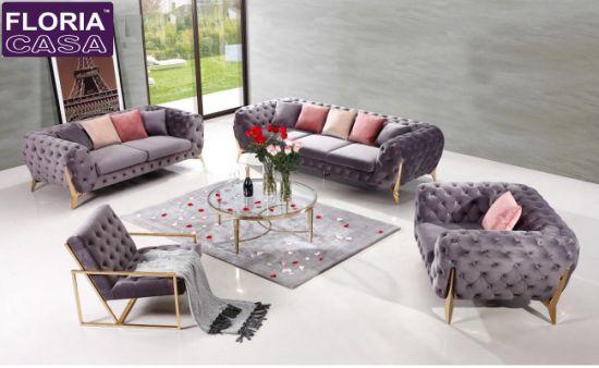 Modern Living Room Sectional Sofa Set Furniture for Hotel Lobby