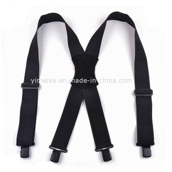 Good Quality Men Customized Heavy Duty Clip on X Suspender
