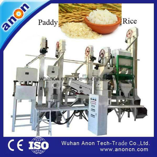 Anon 20-30 Tpd Automatic Rice Mill Machinery