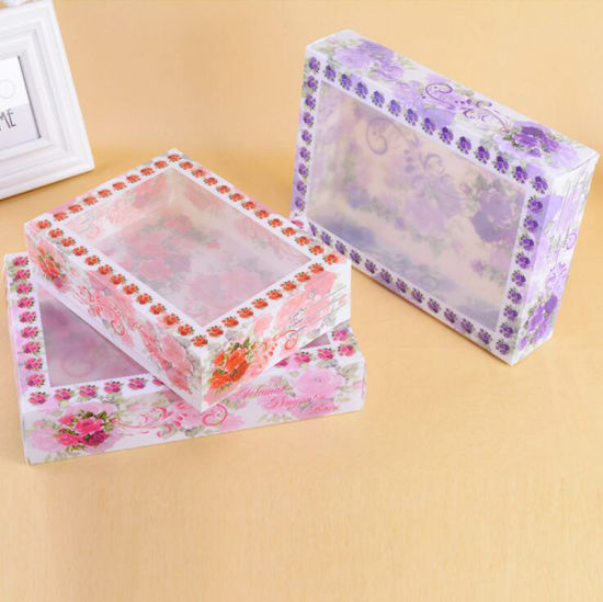 Custom Plastic Type Chinese Style Underwear Packaging Storage Box