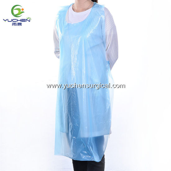 waterproof Househood Disposable Cleaning Plastic Colored PE Apron pictures & photos