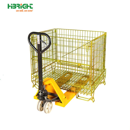 Warehouse Industrial Foldable Wire Mesh Storage Box pictures & photos