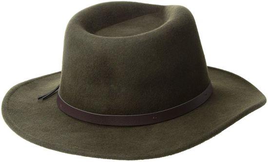 bcfef498673 Wholesale Wool Felt Classic Men′s Crushable Felt Outback Cowboy Hat Feather