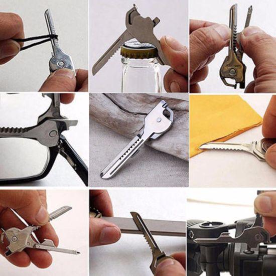 6in1 Keychain Tool Swiss Tech Multifunction Bottle Opener Utili Key Screwdriver