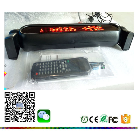 IR Remoted Programmable Scrolling LED Sign Text Display Board For Car Green