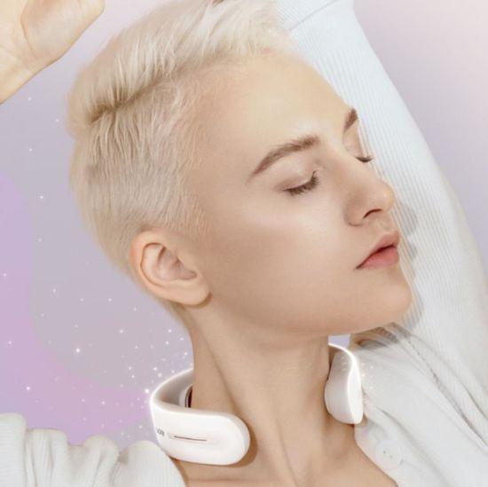 Professional Manufacture Massage Product High Quality Durable Austenite Blue Color Neck Massager